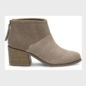 TOMS taupe bootie